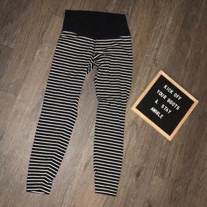 Stripe workout pants 7/8 ankle
